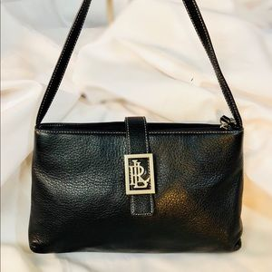 Ralph Lauren Small Black Leather Shoulder Bag